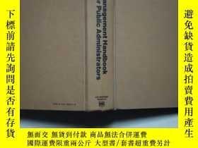 二手書博民逛書店Manage罕見mentHandbook For Public AdministratorsY14635