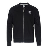Puma T7 男 黑 斜紋棒球外套 復古 經典 立體剪裁 夾克 57487601