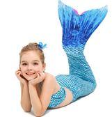 美人魚衣服服裝魚尾公主裙游泳衣女童女孩魚尾巴兒童泳衣套裝寶寶