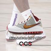 Nike 籃球鞋 LeBron VII QS 7 MVP 白 紅 氣墊 男鞋 LBJ 7 運動鞋【ACS】 CZ8915-100