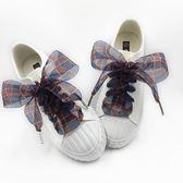 鞋帶  新品彩色格格緞帶雪紗時裝款寬大蝴蝶結透明雪紗  AB1080 【3C環球數位館】