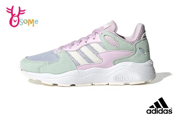 adidas neo CHAOS 迪麗熱巴同款 成人女款 復古老爹鞋 跑鞋造型 運動鞋 R9320#綠粉◆OSOME奧森鞋業