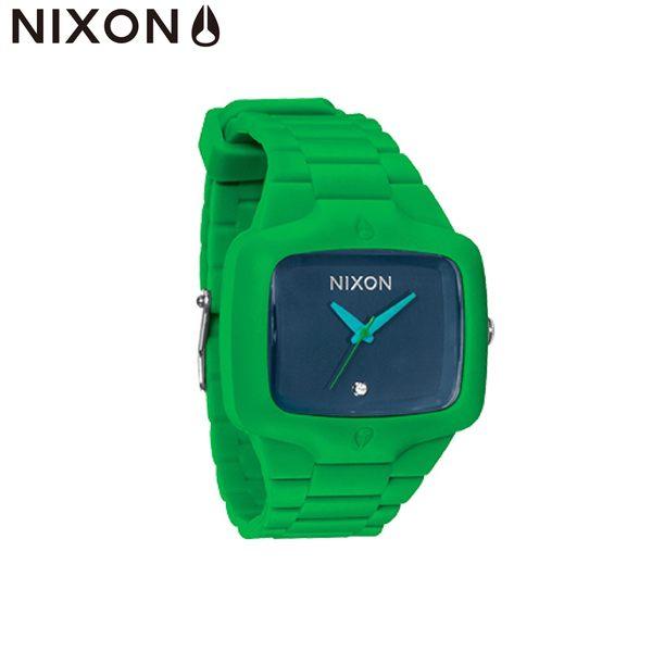 NIXON 手錶 原廠總代理 A139-876 RUBBER PLAYER 綠藍色 潮流時尚皮錶帶 男女 運動 生日 情人節禮物
