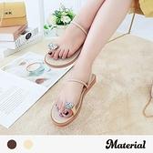 涼鞋 鑽石夾腳涼拖鞋 MA女鞋 T52043