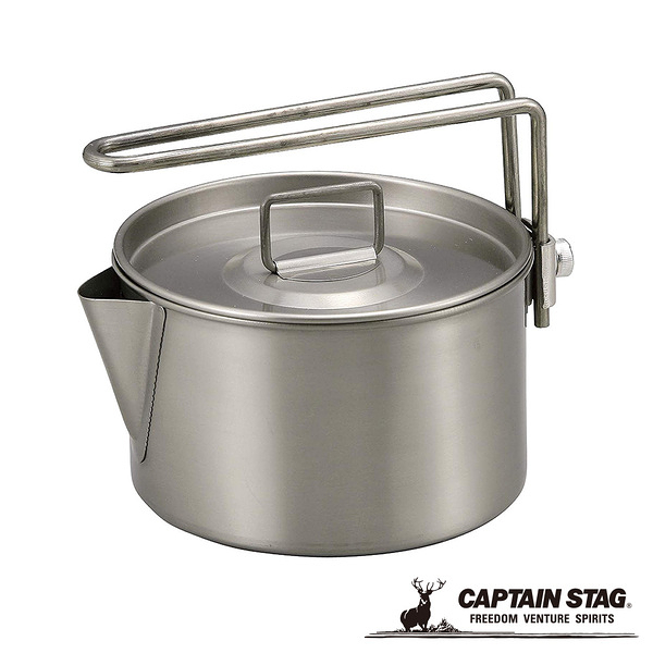 [CAPTAIN STAG] 鹿牌 鈦茶鍋具 900ml (M-9082) 秀山莊戶外用品旗艦店