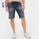 Gap 男裝 做舊水洗五口袋牛仔短褲 536727-仿舊深色印染