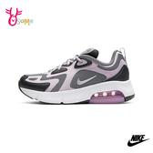 NIKE AIR MAX 200 成人女款 避震運動鞋球鞋休閒鞋復古穿搭 P7249#灰紫◆OSOME奧森鞋業