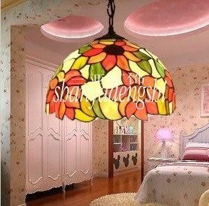 設計師美術精品館12寸燈具田園向日葵蒂凡尼燈飾餐廳臥室書房創意吊燈