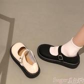 娃娃鞋大頭鞋原宿風單鞋圓頭鞋娃娃鞋平底鞋森系復古文藝女鞋小清新女鞋 交換禮物
