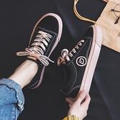 帆布鞋 爆款帆布鞋女鞋年新款春季春秋百搭板鞋ins街拍潮鞋小黑鞋子 格蘭小舖