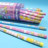 利百代小天使 CB-202 兒童專用大三角鉛筆+筆擦/一筒36支入(促15)-MIT製 學前鉛筆 抗菌 安全無毒