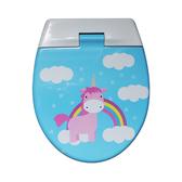 彩虹馬親子通用緩降馬桶蓋