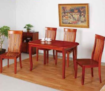 【南洋風休閒傢俱】典雅餐桌椅系列 - 唐式實木餐桌組 復古餐桌椅組 古典餐桌椅(721-6 AR087)