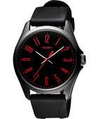 ORIENT 東方 流行風尚石英腕錶-黑x紅時標/43mm FQC0S007B