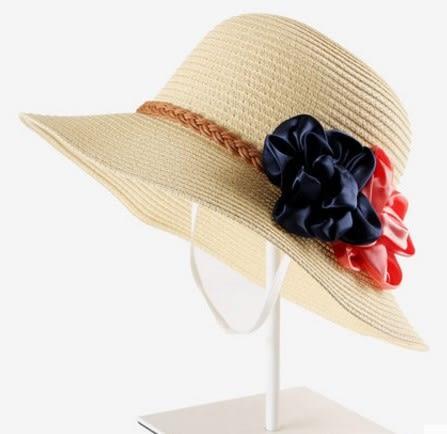 [協貿國際]  女士夏天可折疊遮陽帽大沿防曬草帽 (1入)