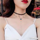 項錬 韓國黑色性感鎖骨錬簡約短款項錬choker項圈頸帶脖子飾品頸錬女 Cocoa