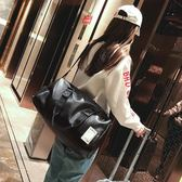 短途旅行包男出差手提包女大容量旅游包簡約皮質行李包防水健身包  范思蓮恩  igo