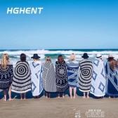 歐洲大牌大甜甜圈沙灘墊巾旅行浴巾沙灘披巾披肩創意圍巾野餐墊  夏季上新