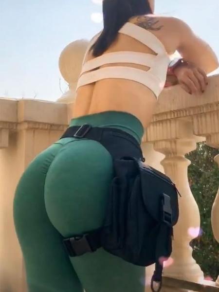 腰腿包女歐美風顯臀百搭多功能戶外運動健身腿包腰包女機車防水潮 黛尼時尚精品