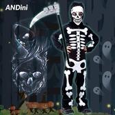萬圣節兒童服裝cosplay男童骷髏恐怖吸血鬼死神鬼衣幼兒園演出服