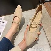 韓版平底單鞋ins新款春季尖頭女鞋網紅職業百搭時尚工作鞋女