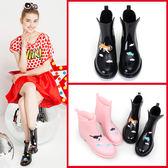 短筒雨靴 水靴水鞋 防滑保暖膠鞋成人雨鞋女 全館八折柜惠