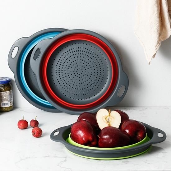 收納籃 瀝水籃 洗菜籃 可折疊 伸縮 水果盤 蔬果籃 可掛式 多功能 折疊瀝水籃【M028】生活家精品
