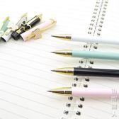 金屬中性筆簽字筆黑0.5水筆蝴蝶結可愛女生禮品學生 igo街頭潮人