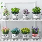 仿真盆栽 北歐客廳仿真綠色植物INS小盆栽擺件創意家居辦公室桌面裝飾假花 17色