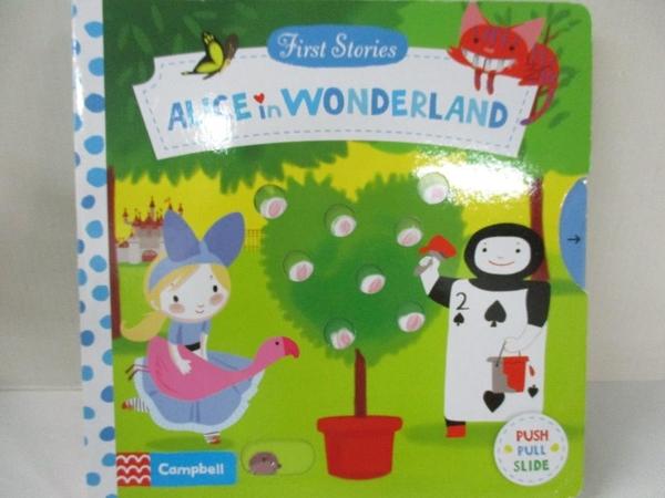 【書寶二手書T5/少年童書_IJ1】First Stories: Alice in Wonderland_Colonel Moutard