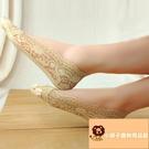 10雙 蕾絲船襪女冰絲夏薄款隱形襪棉淺口硅膠防滑防掉短襪子【小獅子】