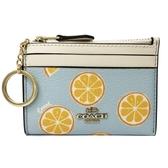 【COACH】悠遊卡片鑰匙零錢包(柳橙/水藍)