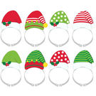 聖誕節 裝扮 髮箍8入-聖誕帽