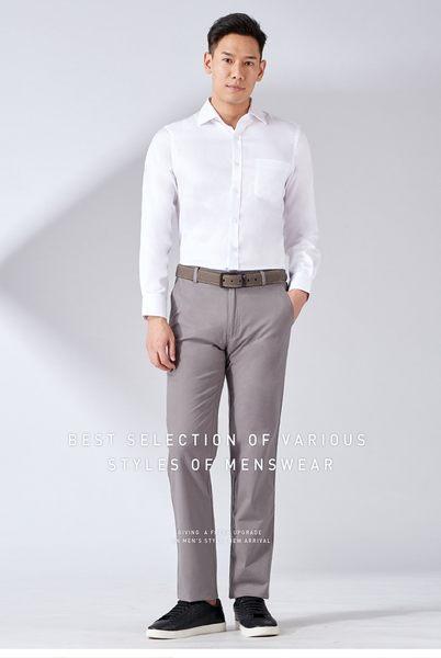 極品西服 歐式紳士素面修身襯衫_白(SW508-80)