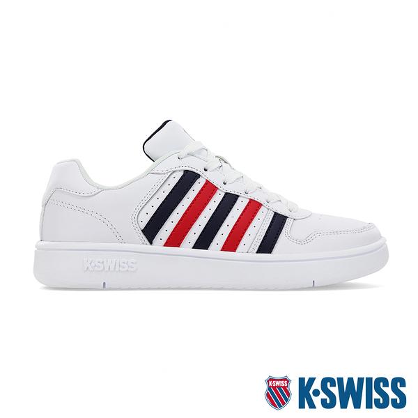 K-SWISS Court Palisades時尚運動鞋-女-白/藍/紅