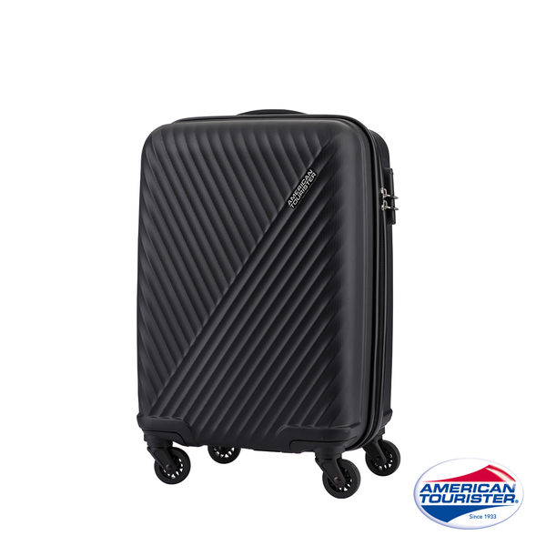 AT美國旅行者 28吋Visby線條防刮硬殼行李箱(黑)