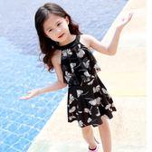 泳衣 兒童中大童連體公主裙式平角女童女孩寶寶舒適游泳衣 WE2777『優童屋』