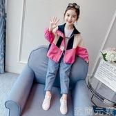 女童網紅春秋外套秋裝新款韓版洋氣兒童秋季中大童時髦風衣潮