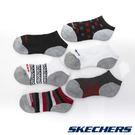 男童休閒踝襪六雙入18cm~21cm-黑x深灰x灰x暗紅x白