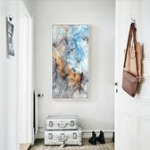 玄關裝飾畫現代簡約豎版掛畫北歐風格餐廳走廊過道抽象畫創意油畫【好康回饋◇85折】