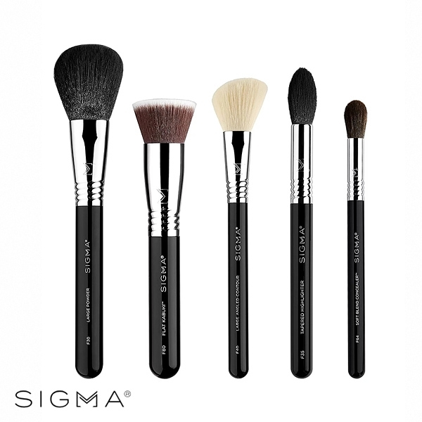 Sigma 經典臉部刷具5件組 Classic Face Brush Set - WBK SHOP