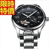 機械錶-陀飛輪鏤空流行熱銷男腕錶4色54t18[時尚巴黎]