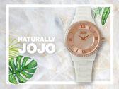 【時間道】NATURALLY JOJO  典雅時尚羅馬刻度陶瓷腕錶 / 玫瑰金面白陶(JO96929-13R)免運費