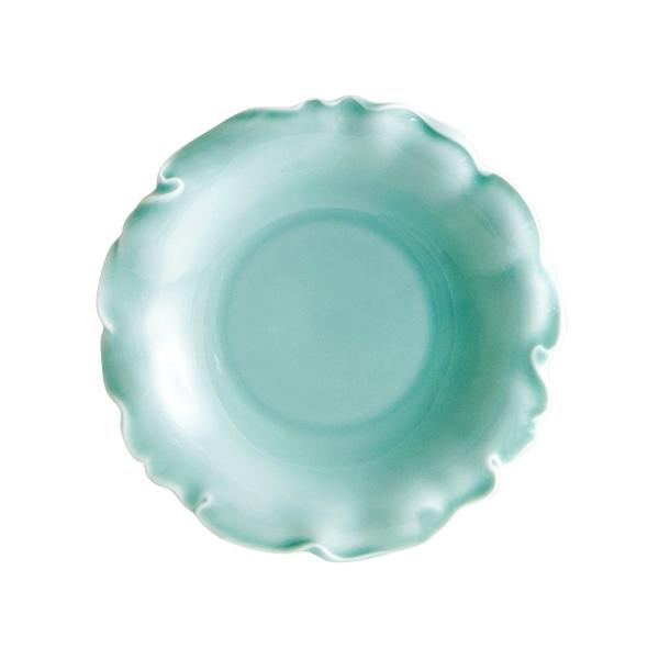 安達窯 青瓷 荷葉盤-大