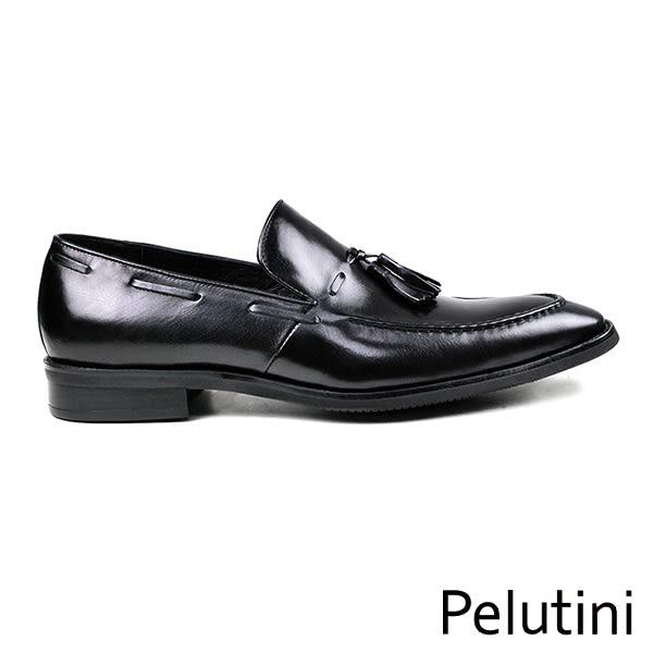 【Pelutini】流蘇樂福紳士鞋 紳士黑(8241-BL)