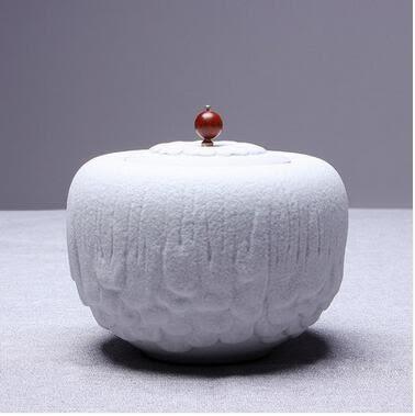 古樸時尚日式自然型陶瓷大號密封茶葉罐Eb14784『夢幻家居』