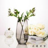 插花恐龍蛋造型花器簡約彩色玻璃花瓶