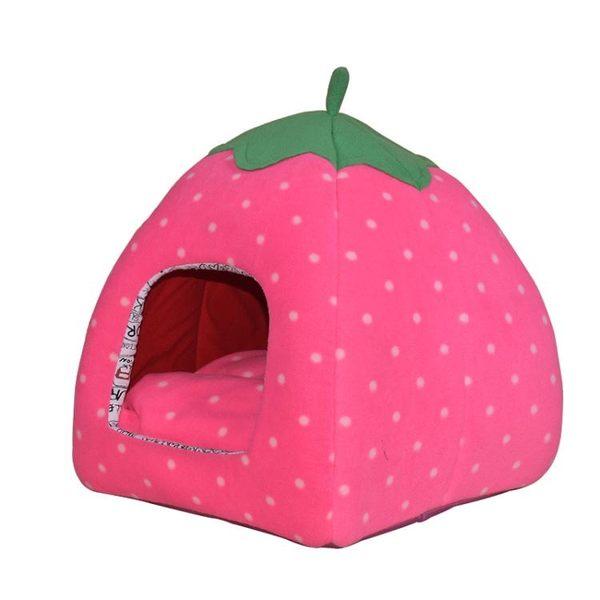 泰迪狗窩草莓窩蒙古包狗房子狗床墊子比熊小型犬貓窩寵物棉窩【端午節好康89折】
