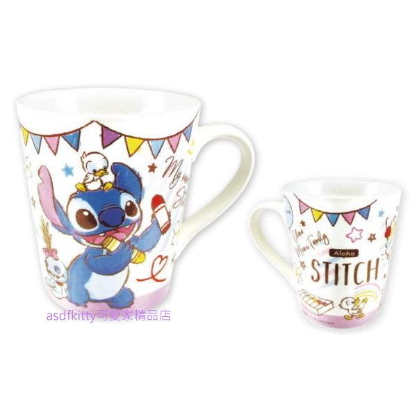 asdfkitty*星際寶貝 史迪奇 紫色塗鴉陶瓷馬克杯-日本正版商品