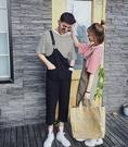 【找到自己】韓國 最新款 連身 吊帶褲 工作裝 情侶衣 套裝 男女尺碼 好看簡約 寬鬆穿搭 免運費中